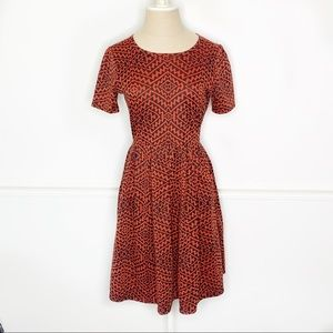Lularoe Amelia Dress Short Sleeve Printed Dress
